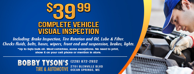 Complete Vehicle Visual Inspection  - $39.99