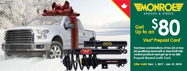 Monroe Winter Promotion Canada