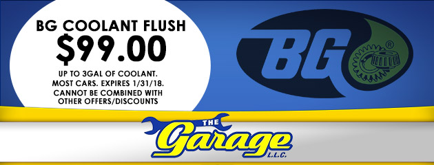 BG Coolant Flush $99.00