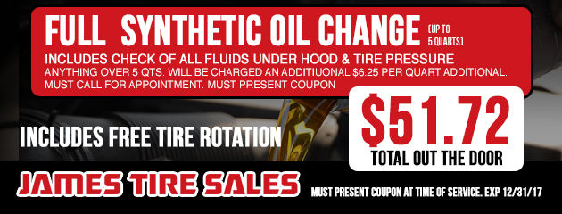 $51.72 Full Synthetic Oil Change