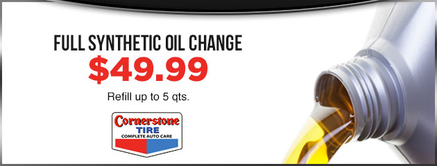 Full Synthetic Oil Change - $49.99 MC