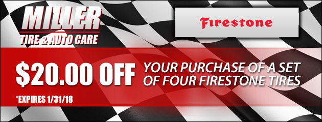 $20.00 off your purchase of a set of four Firestone tires