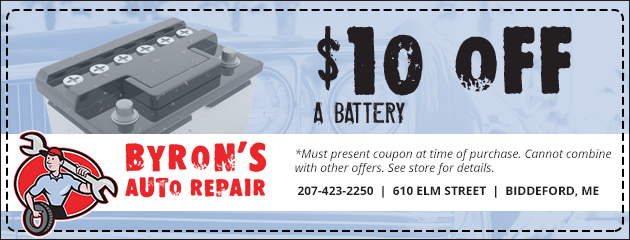 $10 Off a Battery Special