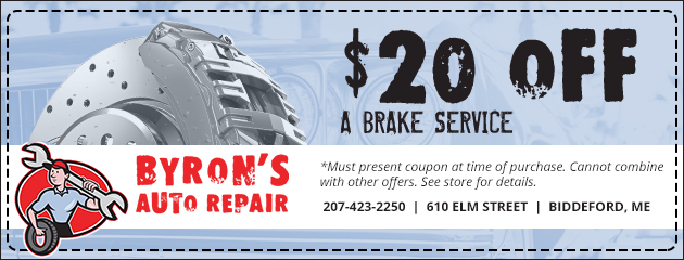 $20 Off a Brake Service Special