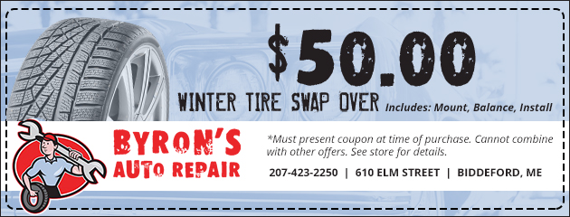 Winter Tire Swap Over Special Only $50