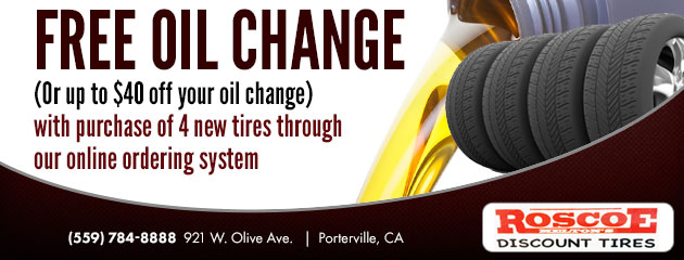 Free oil change (Or up to $40 off your oil change)