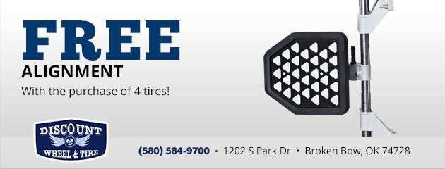 Free Alignment with the Purchase of 4 Tires!