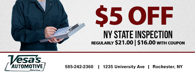 $5 OFF NY State Inspection