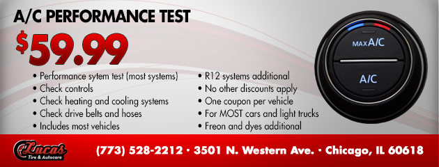 A/C Performance Test $59.99