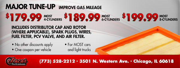 Major Tune-Up - Improve Gas Mileage