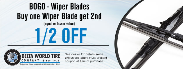 Coupon for Wiper Blades