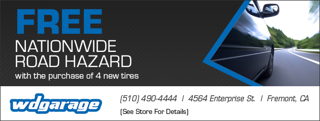cription	 Free Nationwide Road Hazard with the purchase of 4 new tires