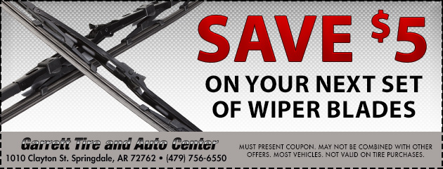 Save $5 on your next set of wiper blades