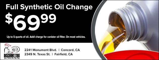 69.99 Full synthetic Oil Change