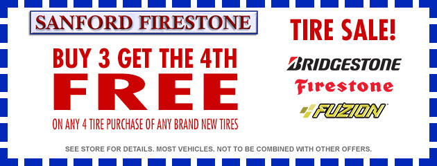 Buy 3 Get the 4th FREE Tire Sale!
