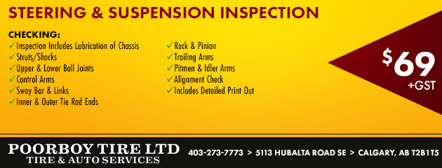 STEERING & SUSPENSION INSPECTION