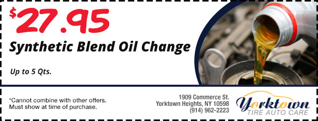 Synthetic Blend Oil change $27.95