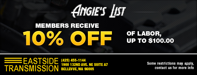 Angie's List members 10% off of labor