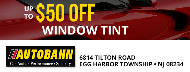 Up to $50.00 OFF Window Tint