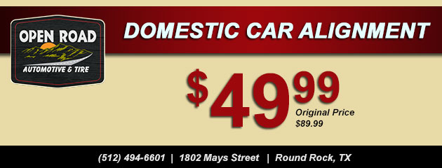 $49.99 Domestic Car Alignment