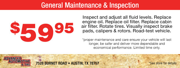 General Maintenance & Inspection Special