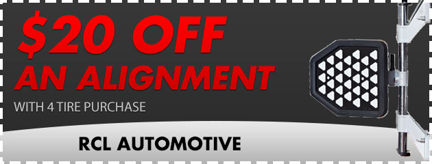 $20 off an alignment with 4 tire purchase
