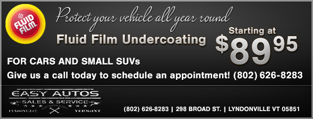 Fluid Film Undercoating Starting at $89.95