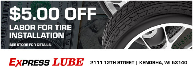 $5.00 Off Labor for Tire Installation