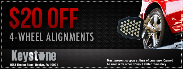 $20 off 4-Wheel Alignments