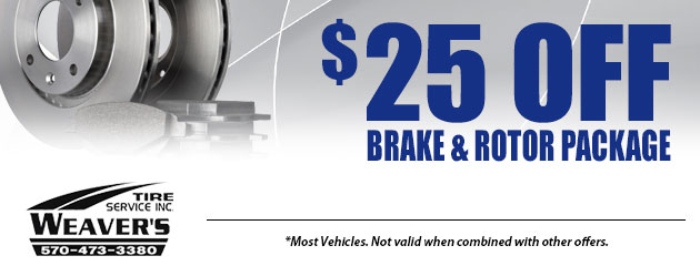 $25.00 Off Brake & Rotor Package