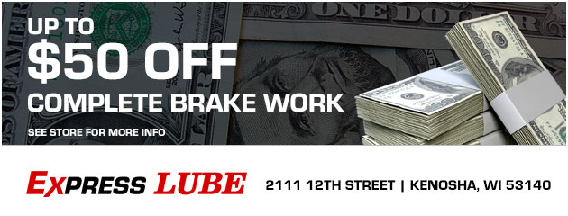 Up to $50 off complete brake work