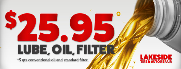 $25.95 Lube, Oil, and Filter