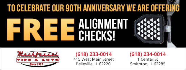 90th Anniversary FREE ALIGNMENT CHECKS