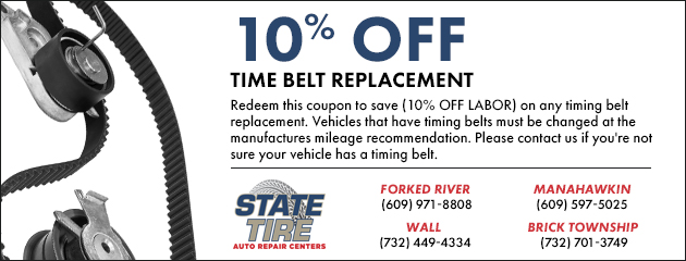 10% Off Time Belt Replacement