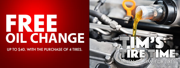 Free Oil Change with Purchase of 4 Tires