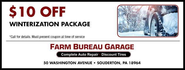 $10 off Winterization Package