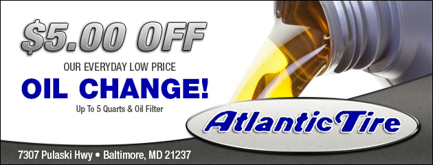 $5.00 off Our Everyday Low Price Oil Change!