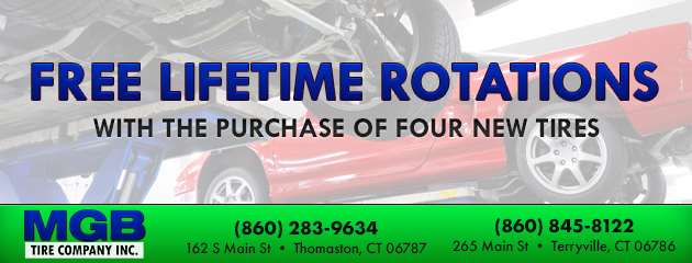 With the purchase of four new tires, get free lifetime rotations