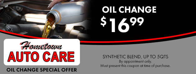 Oil change for $16.99