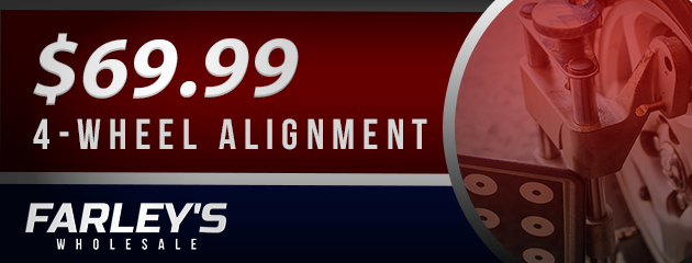 $69.99 4 Wheel Alignment