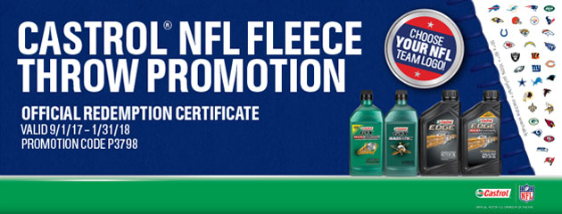 Castrol NFL Fleece Giveaway