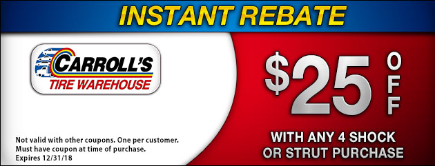 Instant Rebate: Shocks & Struts