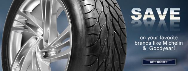 Save on Select Tire Brands