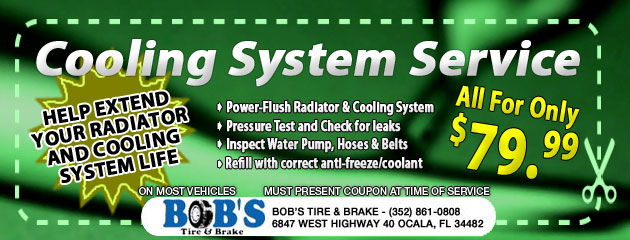 $79.99 Coolant System Service