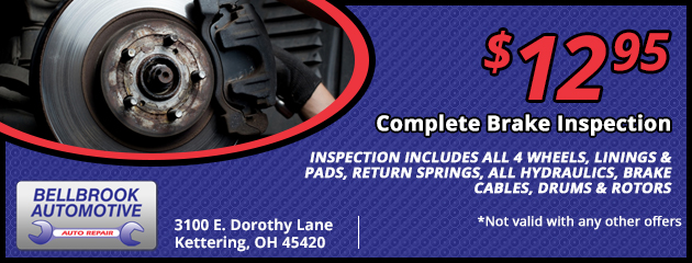 $12.95 Complete Brake Inspection