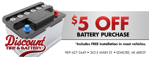 $5 Off Battery Purchase