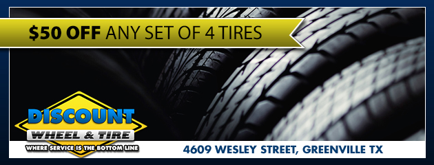 $50 OFF for 4 Tires