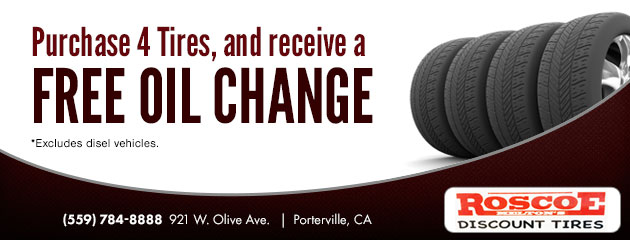 Free Oil Change with set of 4 Tires