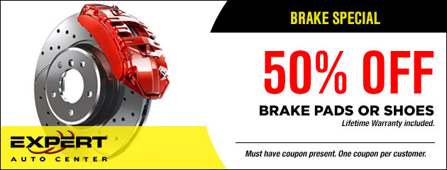 50% OFF Brake Pads or Shoes