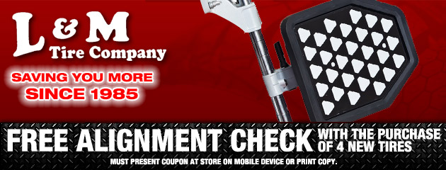 Free Alignment Check With The Purchase of 4 New Tires